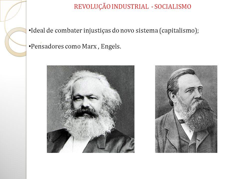 REVOLUÇÃO INDUSTRIAL - SOCIALISMO