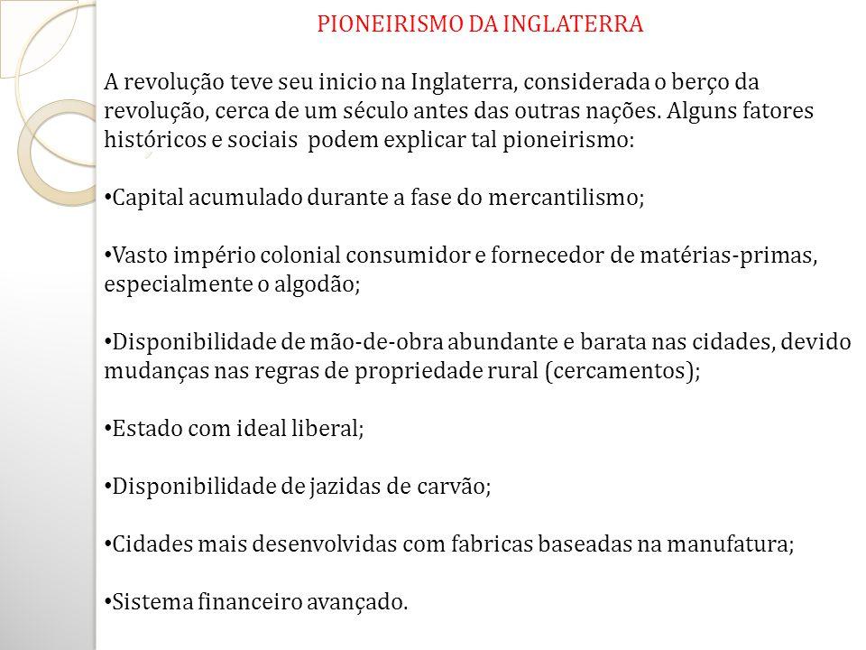 PIONEIRISMO DA INGLATERRA