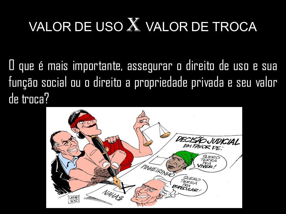 VALOR DE USO X VALOR DE TROCA