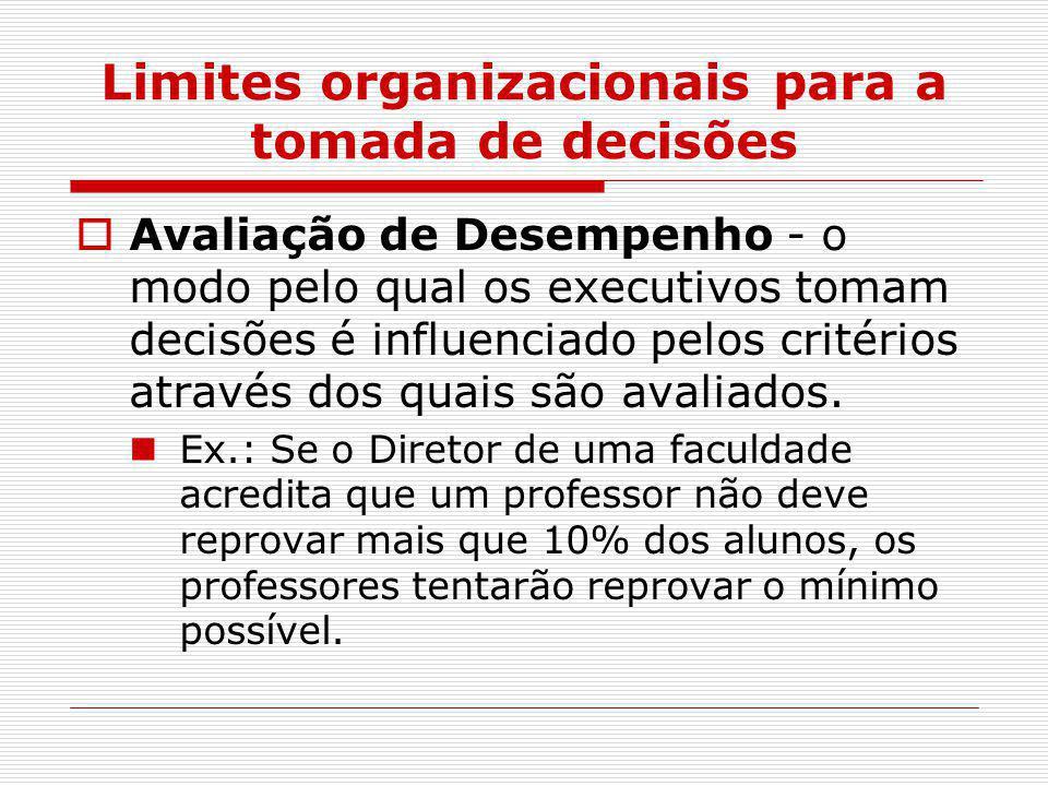 Limites organizacionais para a tomada de decisões