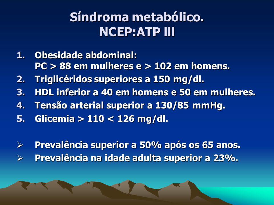 Síndroma metabólico. NCEP:ATP lll
