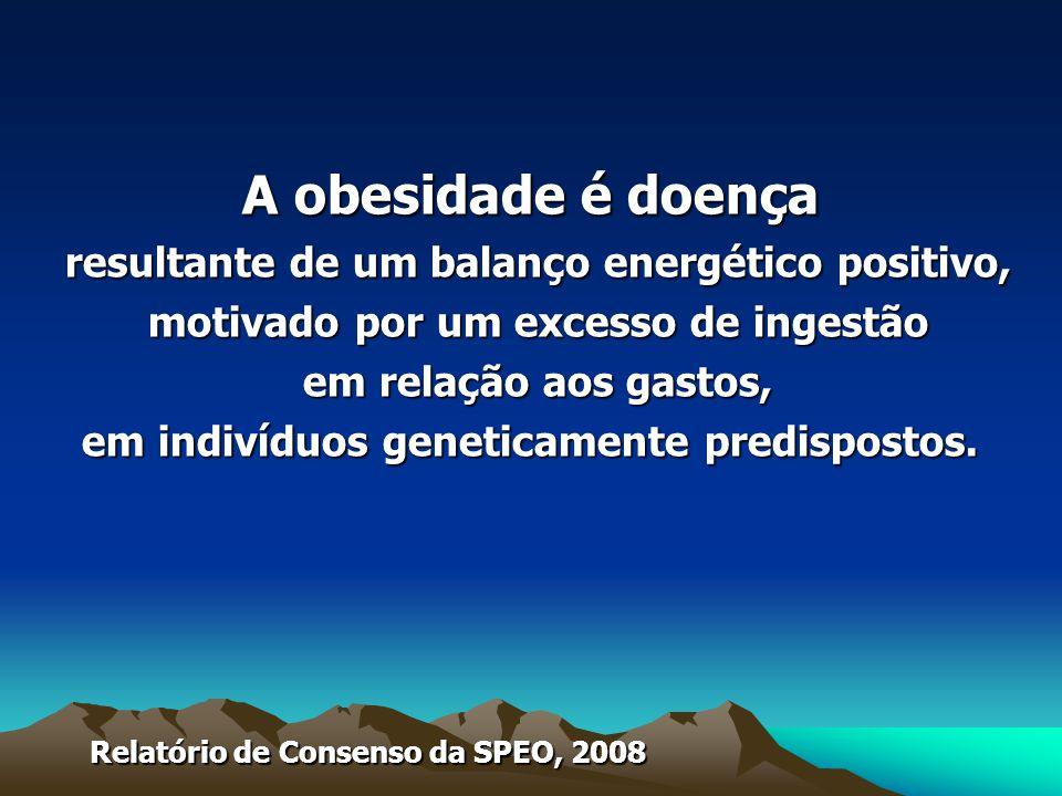A obesidade é doença resultante de um balanço energético positivo,