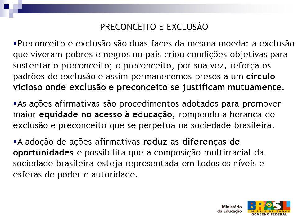 PRECONCEITO E EXCLUSÃO