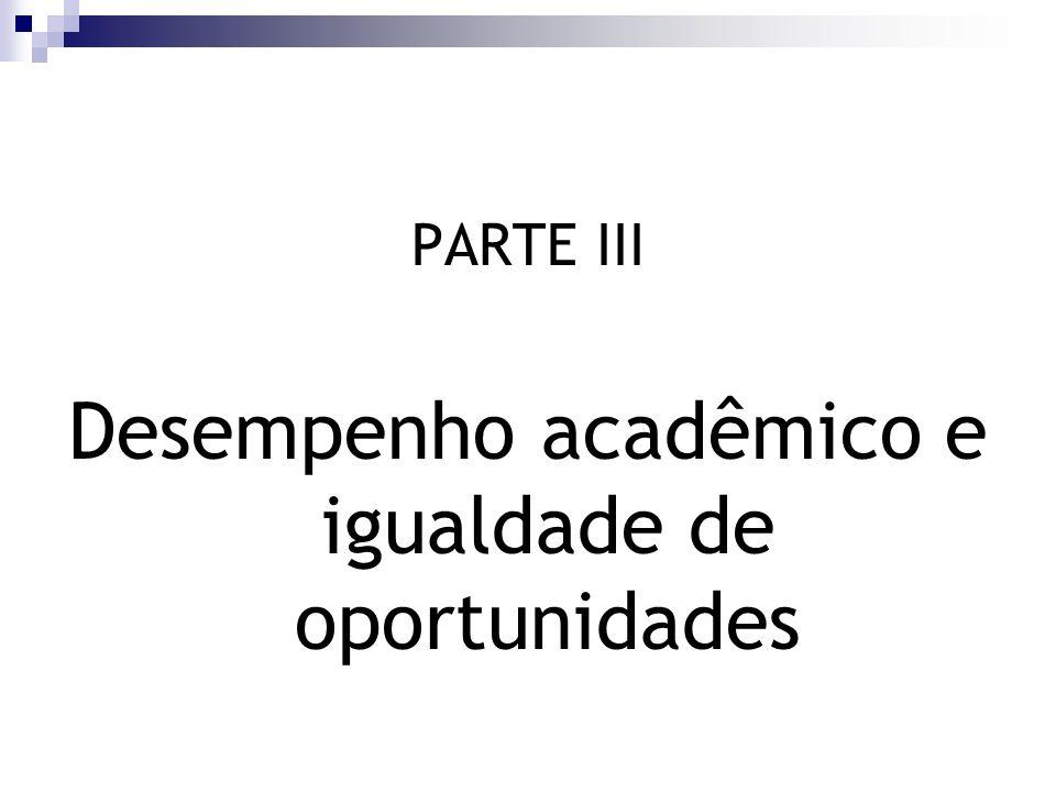 Desempenho acadêmico e igualdade de oportunidades