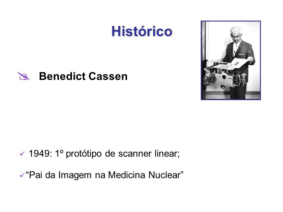 Histórico Benedict Cassen 1949: 1º protótipo de scanner linear;