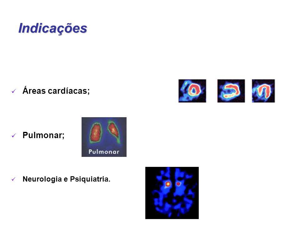 Indicações Áreas cardíacas; Pulmonar; Neurologia e Psiquiatria.