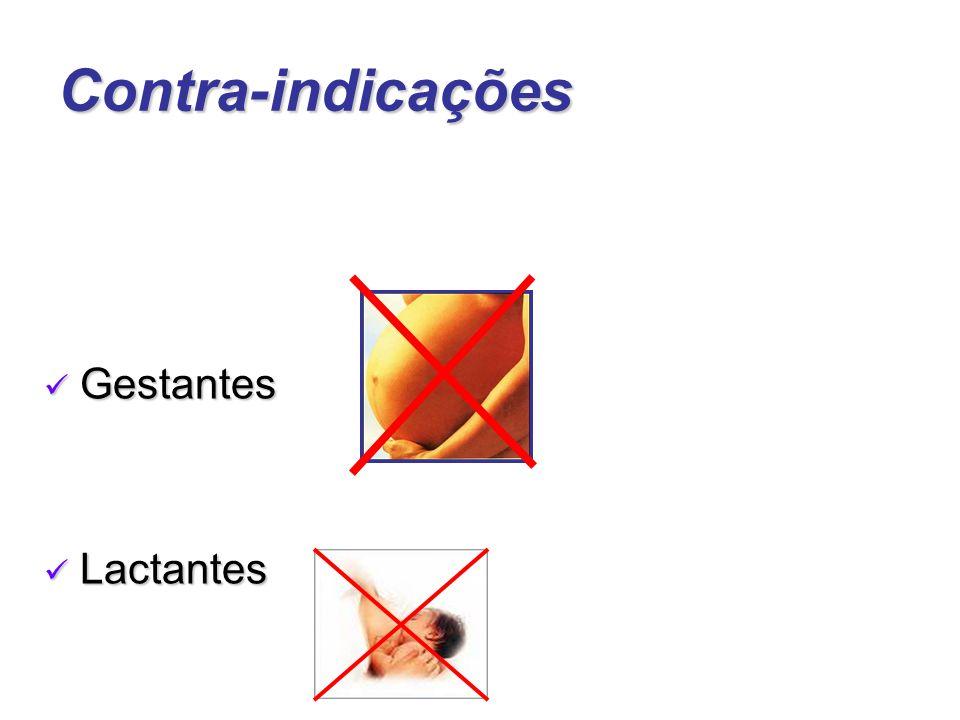 Contra-indicações Gestantes Lactantes