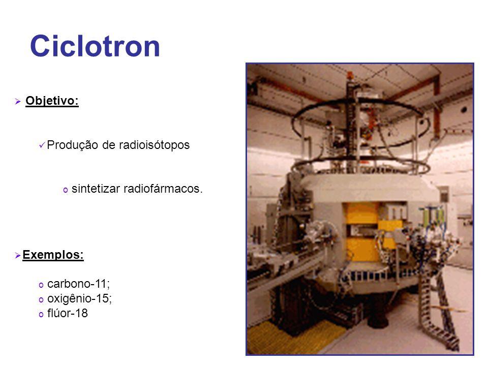 Ciclotron Objetivo: Produção de radioisótopos