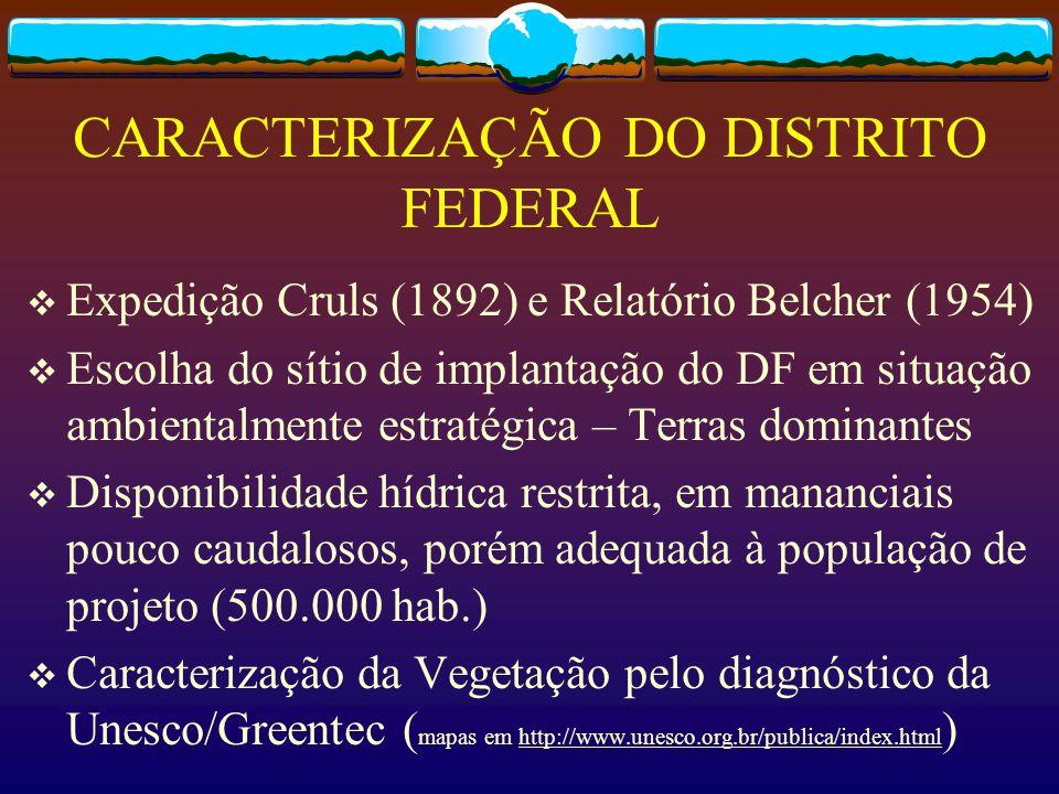 CARACTERIZAÇÃO DO DISTRITO FEDERAL