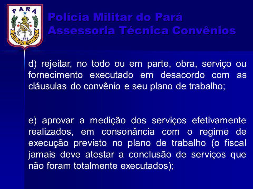 Polícia Militar do Pará Assessoria Técnica Convênios
