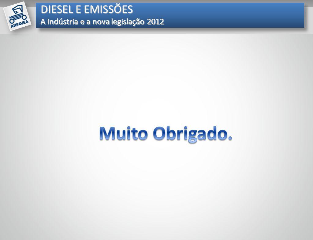 DIESEL E EMISSÕES A Indústria e a nova legislação 2012 Muito Obrigado.