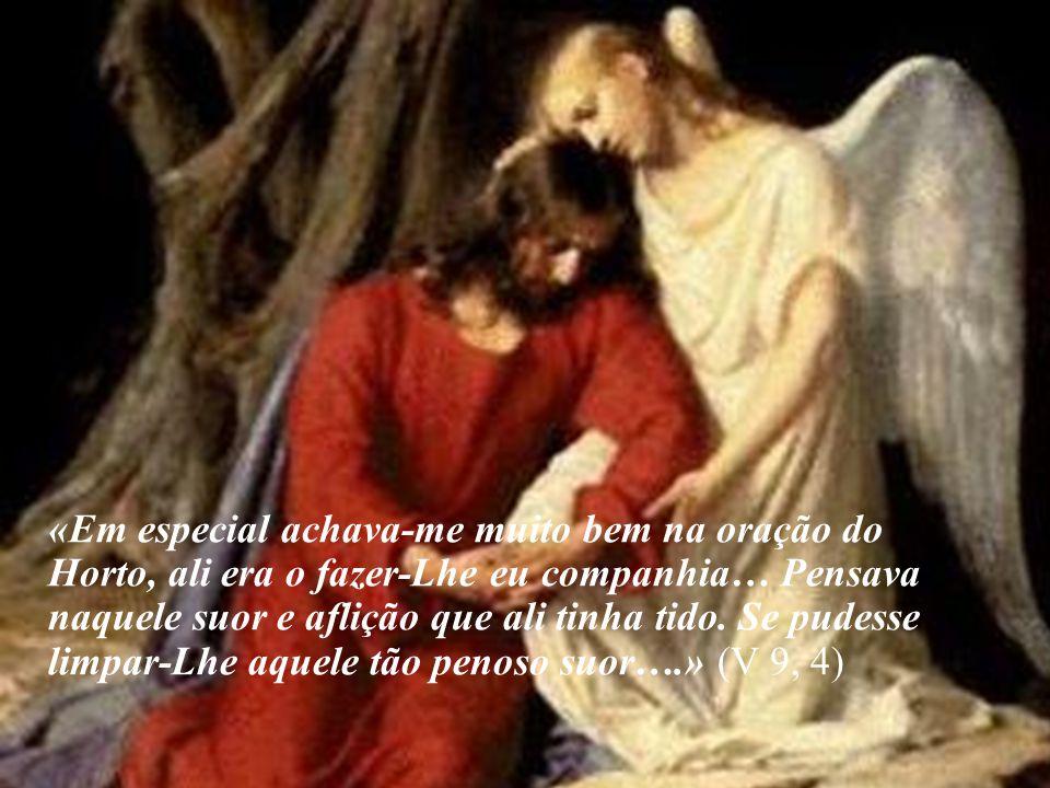 «Em especial achava-me muito bem na oração do Horto, ali era o fazer-Lhe eu companhia… Pensava naquele suor e aflição que ali tinha tido.