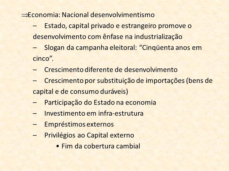 Economia: Nacional desenvolvimentismo