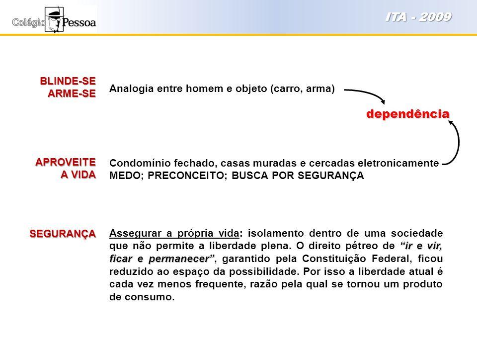 ITA - 2009 dependência BLINDE-SE ARME-SE