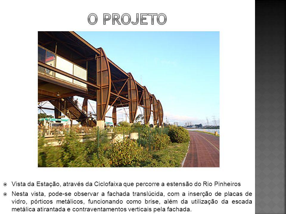 O PROJETO Vista da Estação, através da Ciclofaixa que percorre a estensão do Rio Pinheiros.