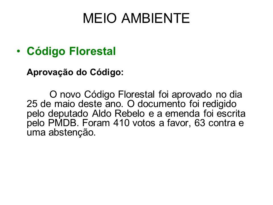 MEIO AMBIENTE Código Florestal