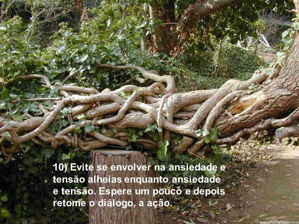 10) Evite se envolver na ansiedade e tensão alheias enquanto ansiedade e tensão.