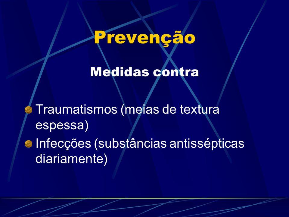 Prevenção Medidas contra Traumatismos (meias de textura espessa)