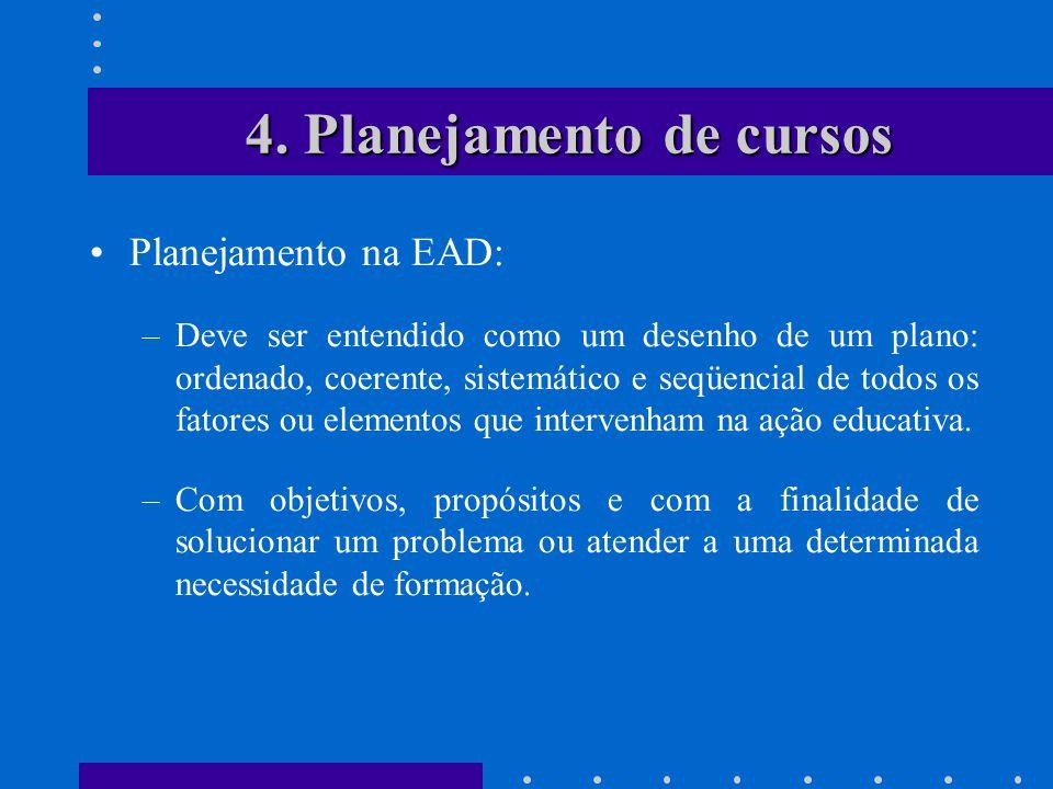 4. Planejamento de cursos