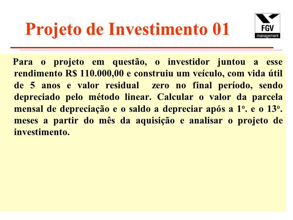 Projeto de Investimento 01