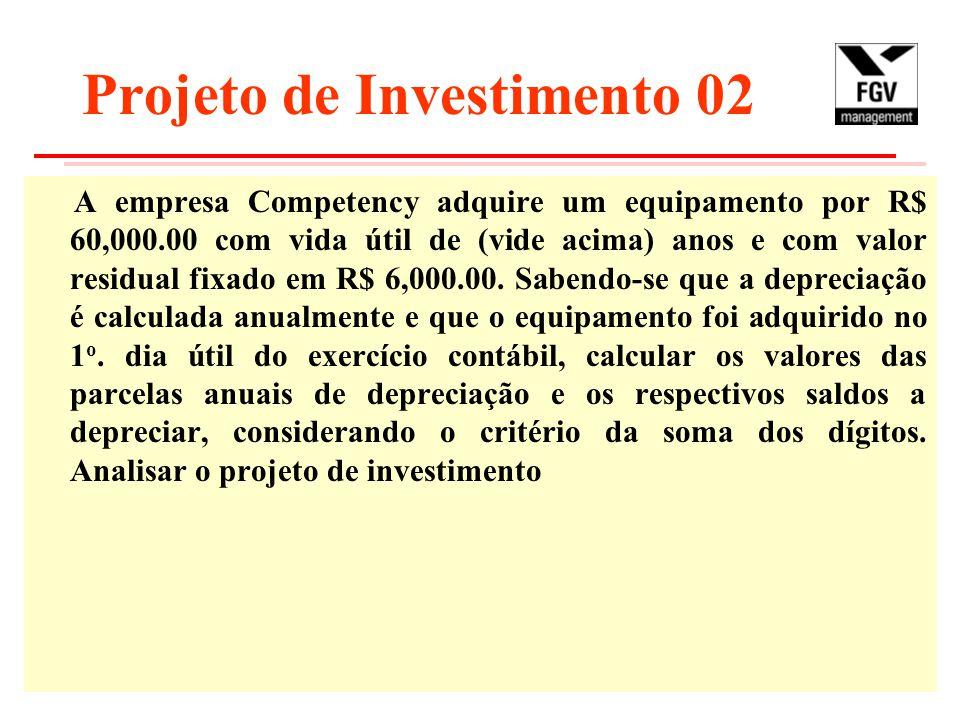 Projeto de Investimento 02