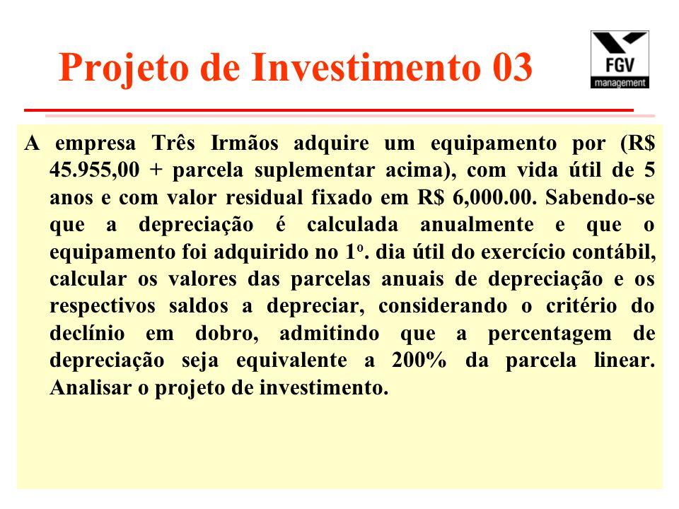 Projeto de Investimento 03