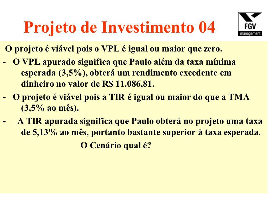 Projeto de Investimento 04