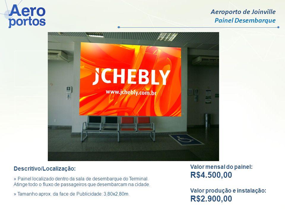 R$ 9.500,00 R$ 750,00 R$4.500,00 R$2.900,00 Aeroporto de Joinville