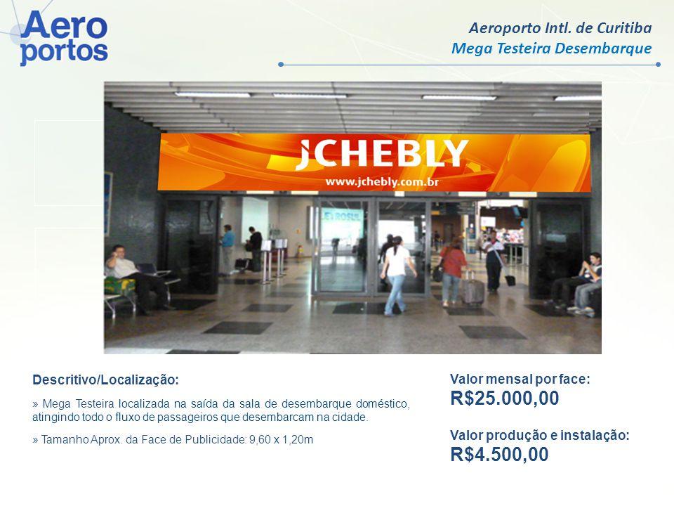 R$25.000,00 R$4.500,00 Aeroporto Intl. de Curitiba