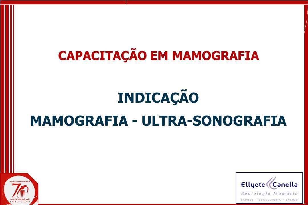 INDICAÇÃO MAMOGRAFIA - ULTRA-SONOGRAFIA