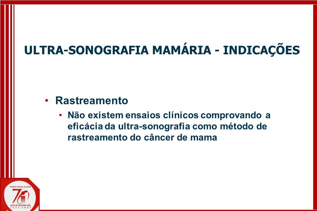 ULTRA-SONOGRAFIA MAMÁRIA - INDICAÇÕES
