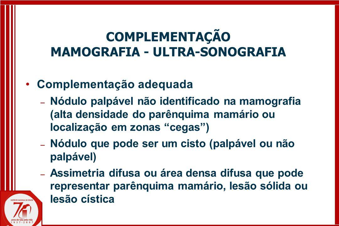 COMPLEMENTAÇÃO MAMOGRAFIA - ULTRA-SONOGRAFIA