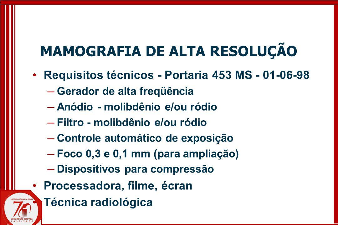 MAMOGRAFIA DE ALTA RESOLUÇÃO