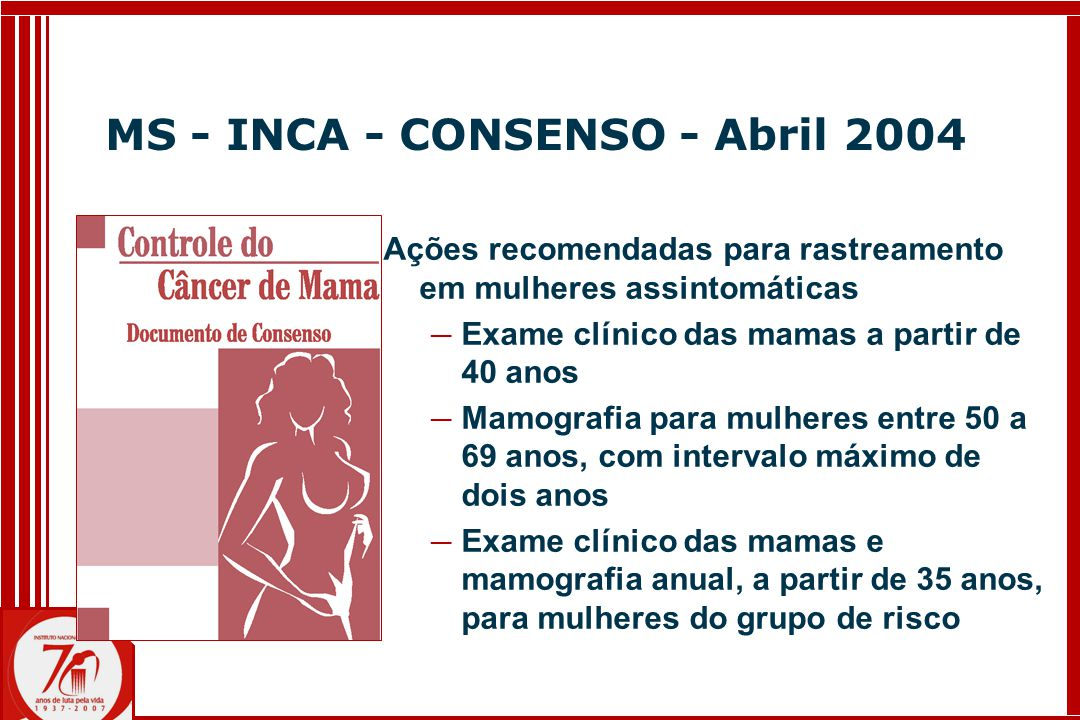 MS - INCA - CONSENSO - Abril 2004