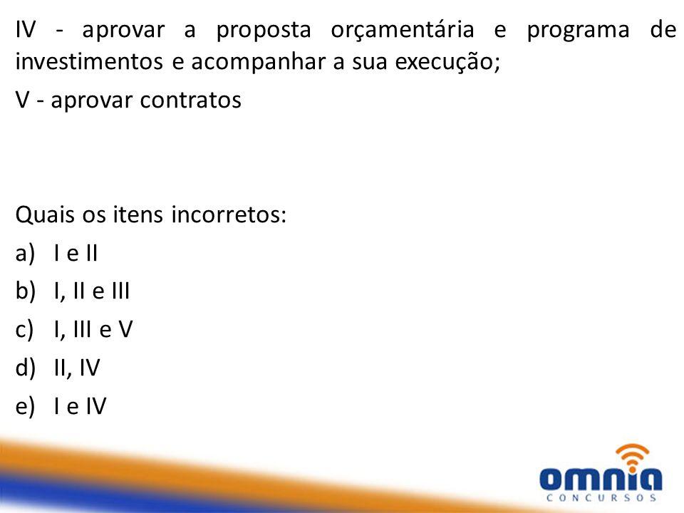 IV - aprovar a proposta orçamentária e programa de investimentos e acompanhar a sua execução;