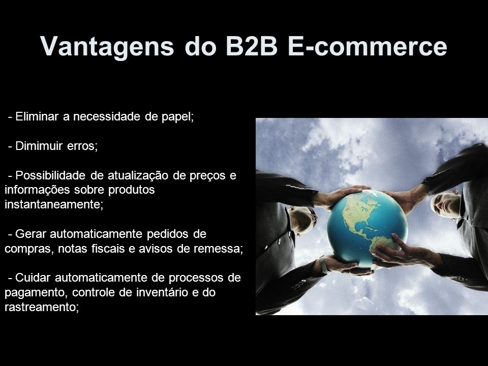 Vantagens do B2B E-commerce