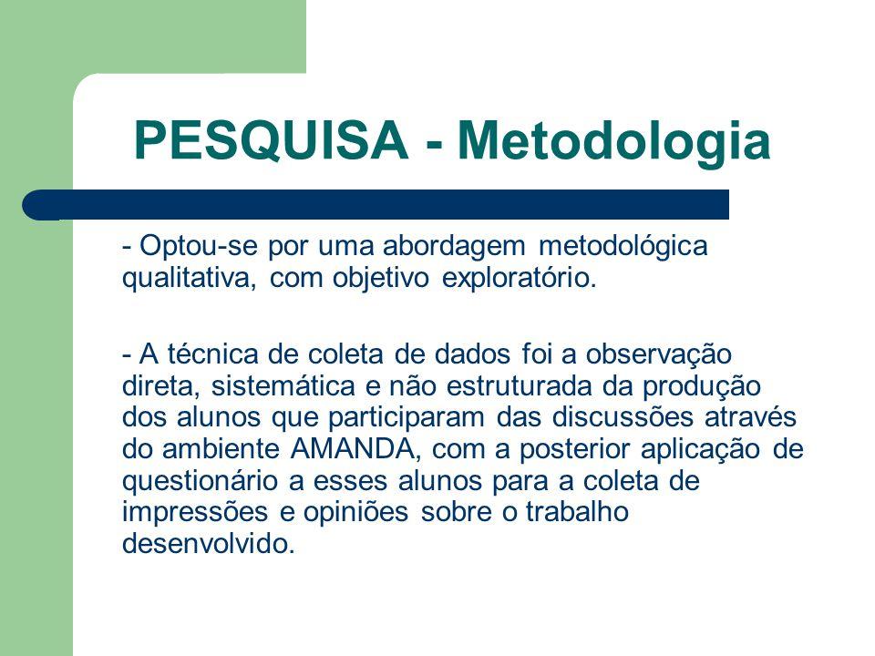 PESQUISA - Metodologia