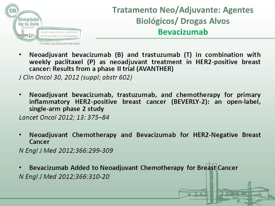 Tratamento Neo/Adjuvante: Agentes Biológicos/ Drogas Alvos Bevacizumab