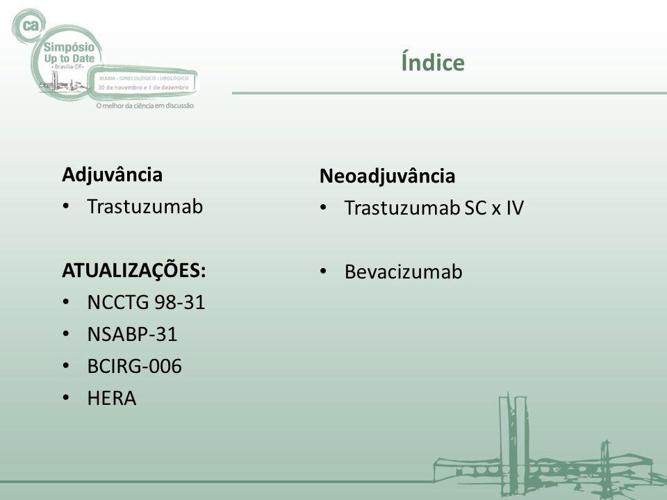 Índice Adjuvância Neoadjuvância Trastuzumab Trastuzumab SC x IV