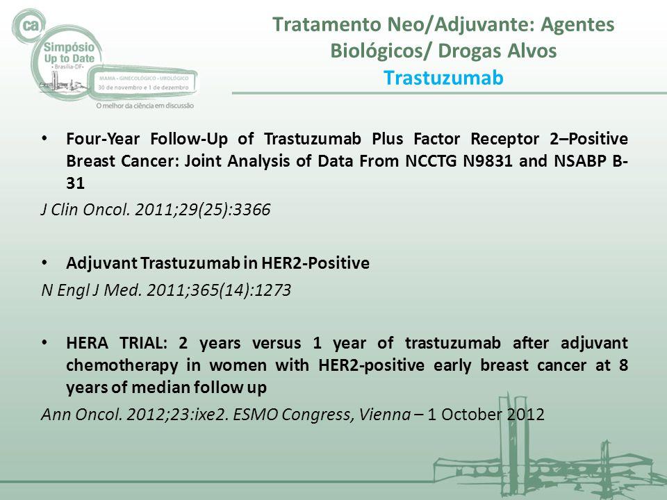 Tratamento Neo/Adjuvante: Agentes Biológicos/ Drogas Alvos Trastuzumab