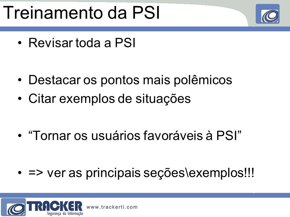 Treinamento da PSI Revisar toda a PSI
