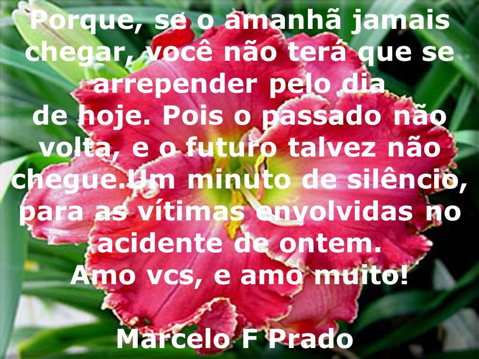 acidente de ontem. Amo vcs, e amo muito! Marcelo F Prado