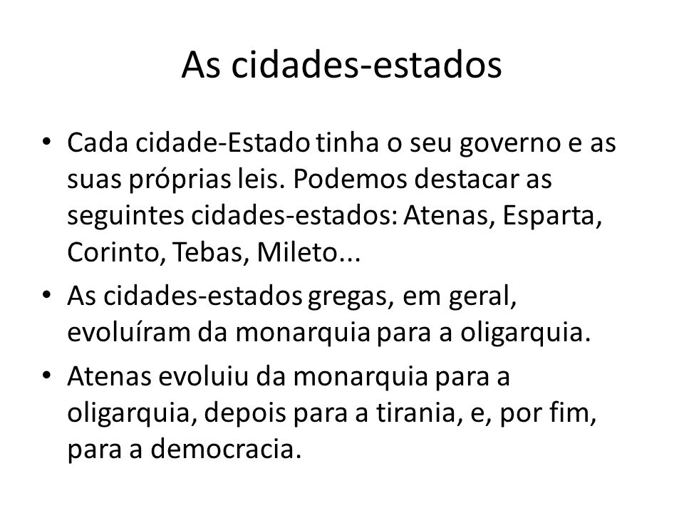 As cidades-estados