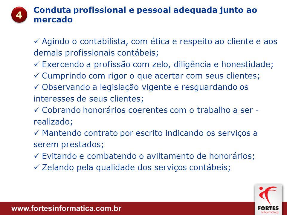 4 Conduta profissional e pessoal adequada junto ao mercado