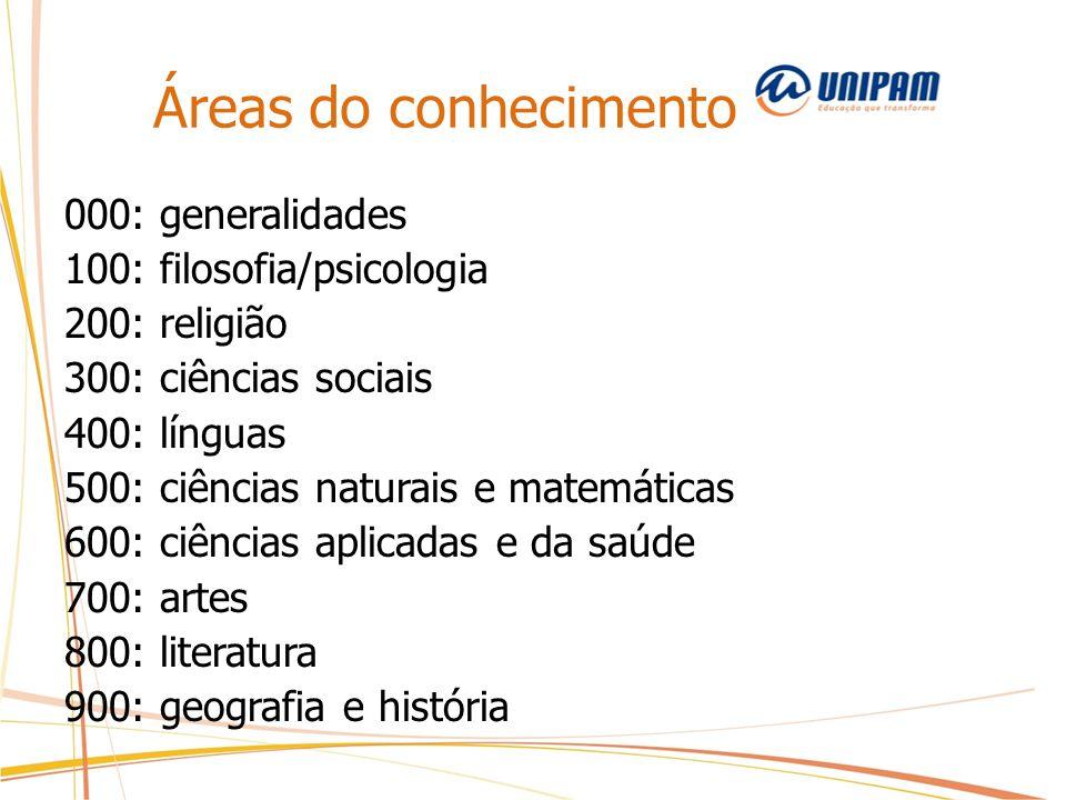 Áreas do conhecimento