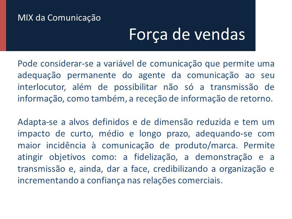 MIX da Comunicação Força de vendas