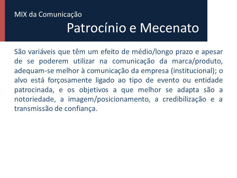 MIX da Comunicação Patrocínio e Mecenato