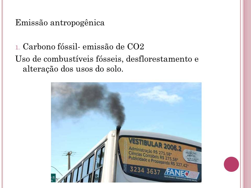 Emissão antropogênica