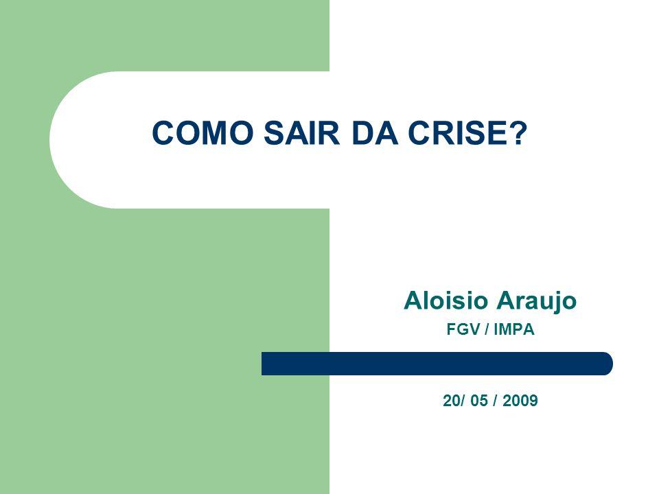 Aloisio Araujo FGV / IMPA 20/ 05 / 2009