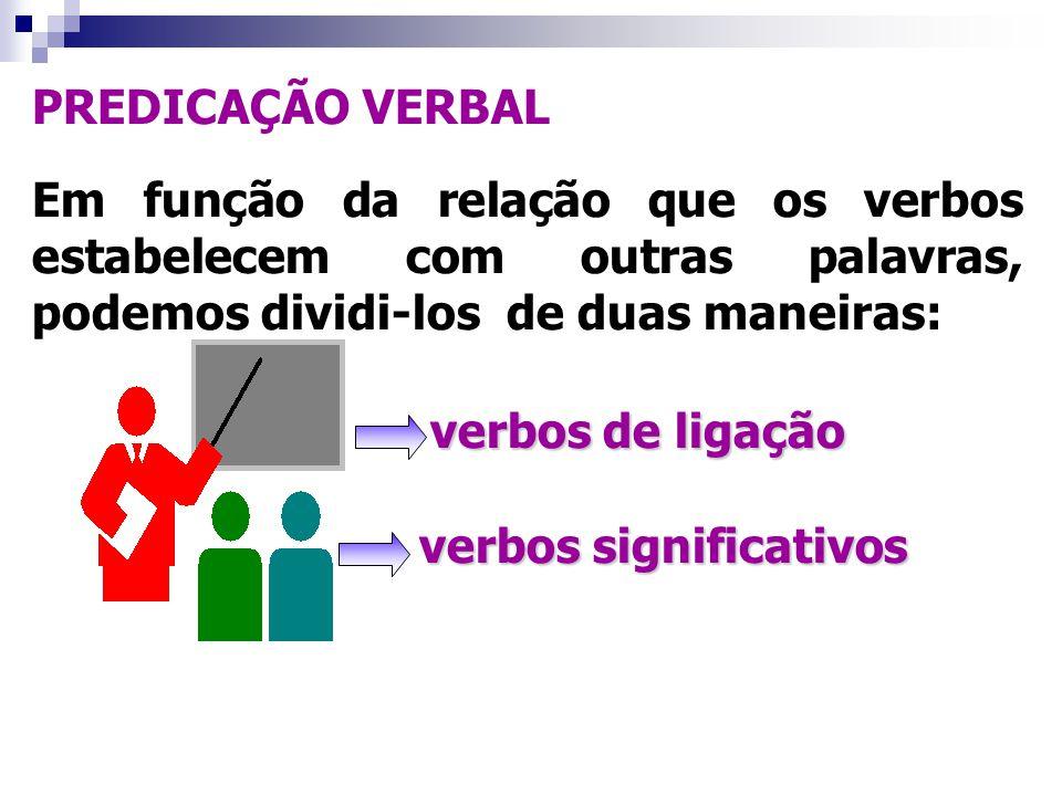 verbos de ligação PREDICAÇÃO VERBAL